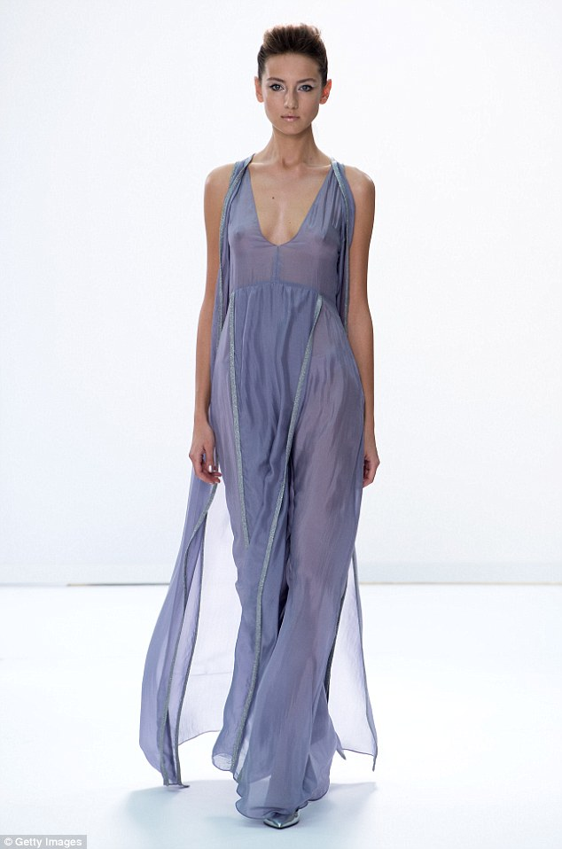 At DAKS models looked ethereal in floaty pastel dresses