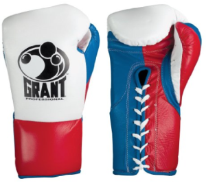 Grant Professional Fight Boxing Gloves Red Blue White
