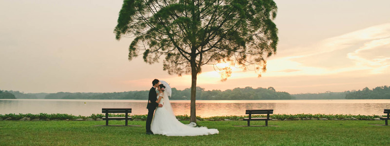 upper seletar reservoir wedding photo
