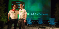 Mark Organ, founder and CEO of Influitive, and Jim Williams, Vice President of Marketing at Influitive, on-stage at Advocamp 2015