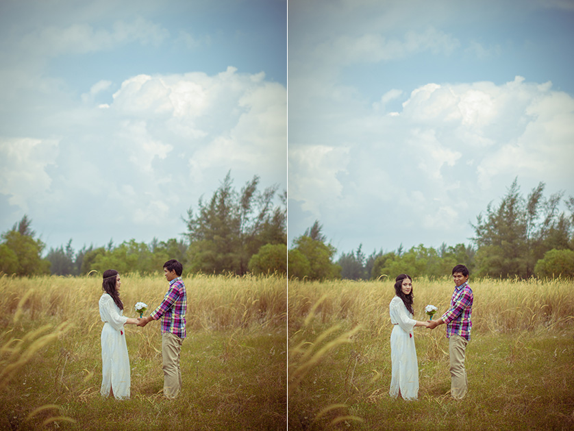 rural wedding photo shoot in singapore