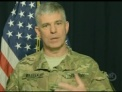 Army Col. Steve Warren, Operation Inherent Resolve spokesman, updates reporters at the Pentagon via teleconference from Baghdad on operations against the Islamic State of Iraq and the Levant, March 21, 2016.