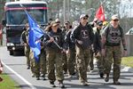 The Rucking Raiders bring their 770-mile journey to an end as they march into Camp Lejeune, N.C. DoD photo by Katie Lange