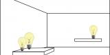 Tafellampen, tafelarmatuur, lamp op tafel