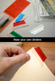Section dividers