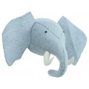 Kidsdepot Kinderzimmer Tiertrophäe 'Elefant' blau-grau 40cm