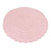 Kidsdepot Runder Strick-Teppich 'Roundy' rosa Ø 110cm