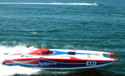 Live feed television of offshore powerboat race
