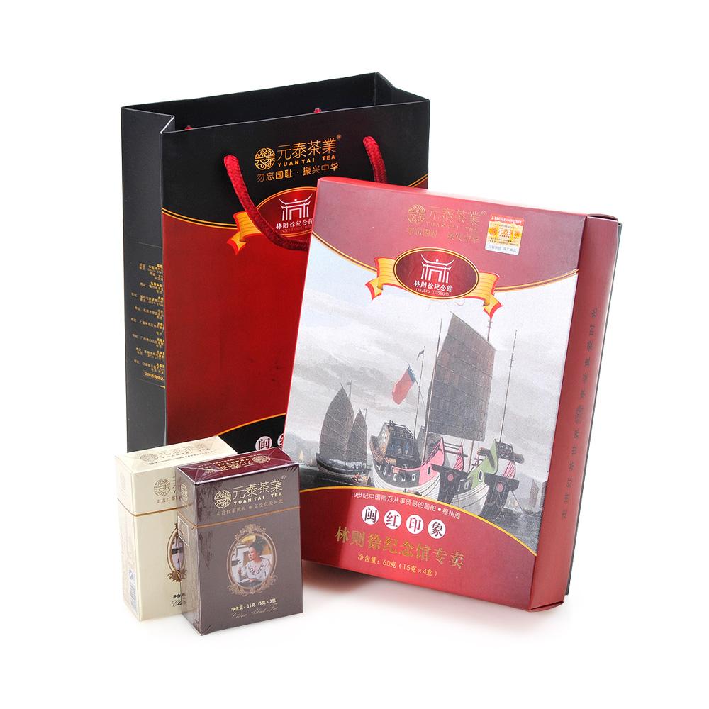 【元泰】福建特级闽红印象林则徐纪念馆专卖红茶礼盒装60g1_0