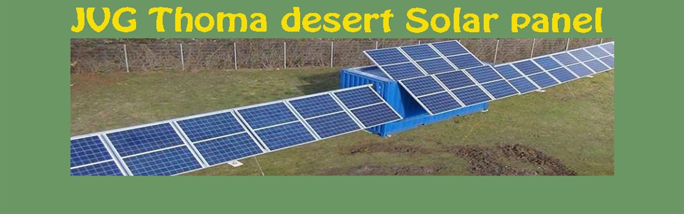 Solar container with desert technology