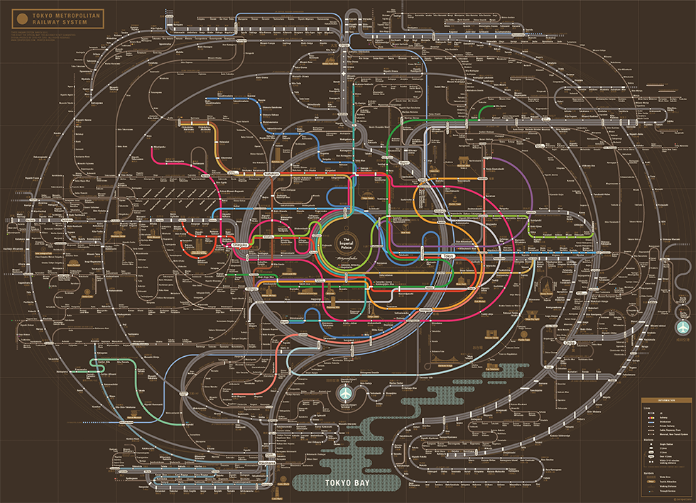 Fantastical designs from the frontier of subway maps