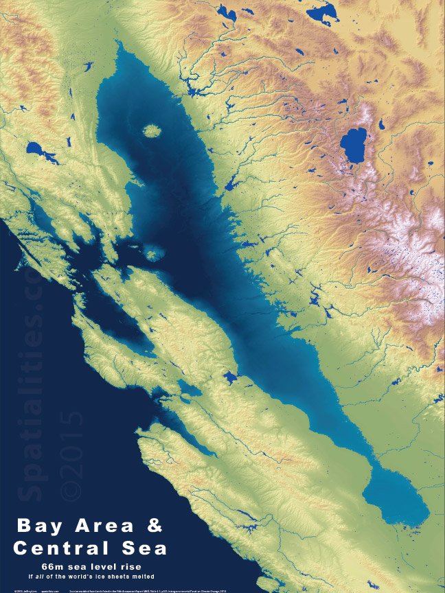 What California would look like if the world's ice sheets melt