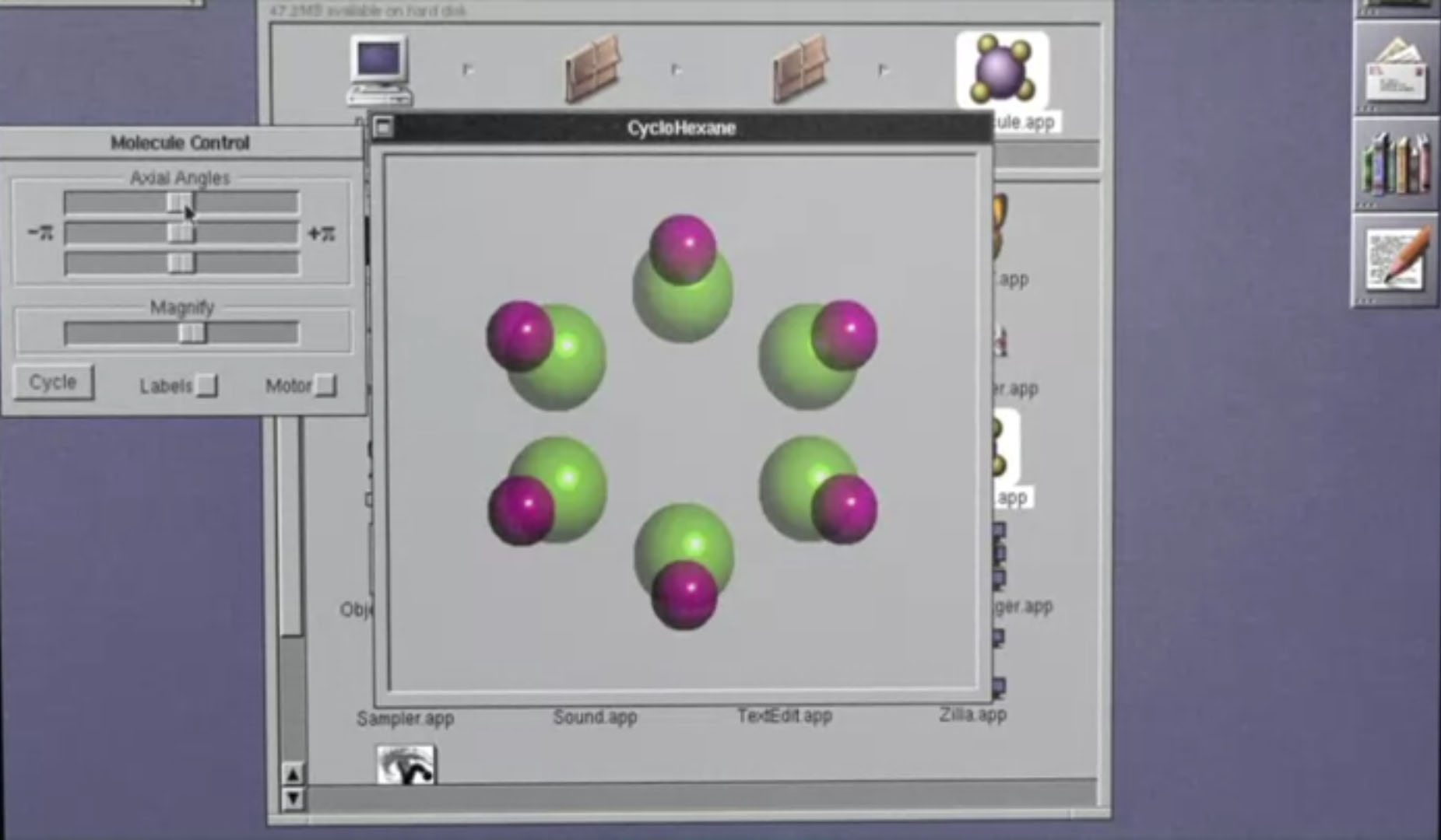 Screenshot from demonstration of OLIVE Executable Archive with educational software. Screenshot from https://olivearchive.org/demo/