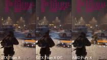 The Division 4K GTX Titan X Overclocked Vs GTX Titan X Stock Vs AMD Fury X Stock FPS