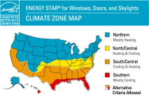 Energy Star Label & Zones helping you find the best vinyl replacement windows