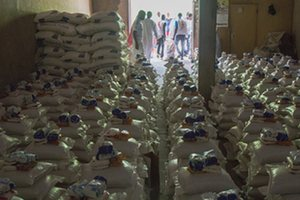 Relief supplies ready for distribution in Maiduguri