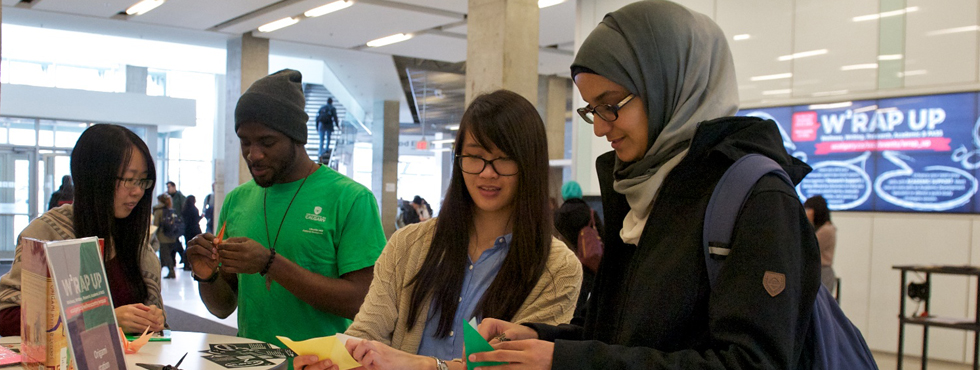 WRAP UP the semester - Get support for exam prep, research, writing as well as maintaining your wellness April 5-6