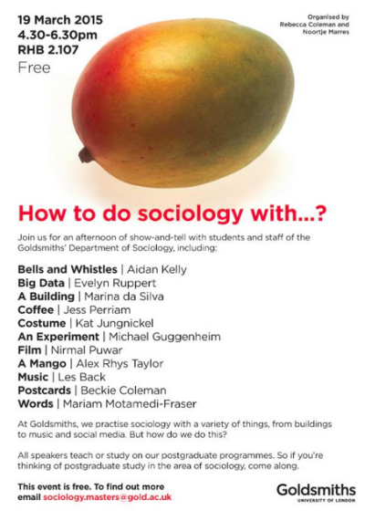How to do sociology with....