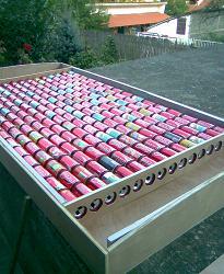 Солнечный коллектор из алюминиевых банок