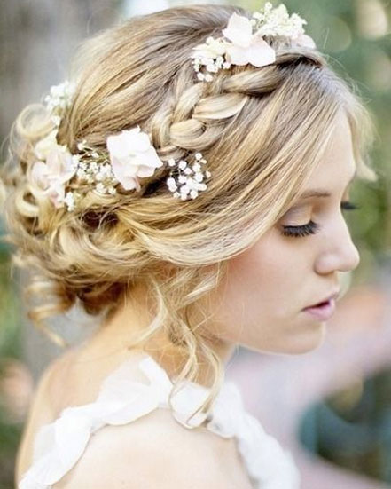 Rustic vintage wedding updo