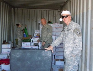 Christmas Stockings being received by Chief Wiggles and thousands of  Troops away from Home at Christmas!