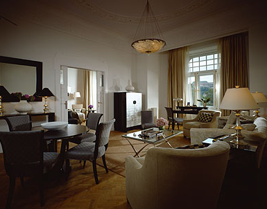 Gresham suite at Gresham Palace Four Seasons Luxury Hotel Budapest Hungary
