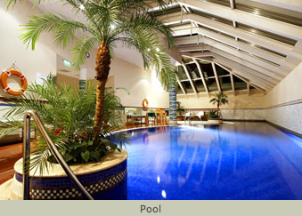 Pool in Five Star Hotel Le Meridien Budapest Hungary