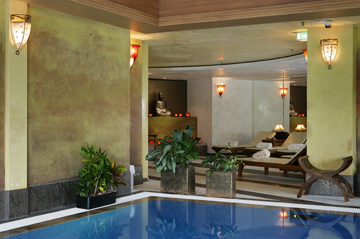 Spa Pool at Five-star Kempinski Hotel Corvinus Budapest Hungary