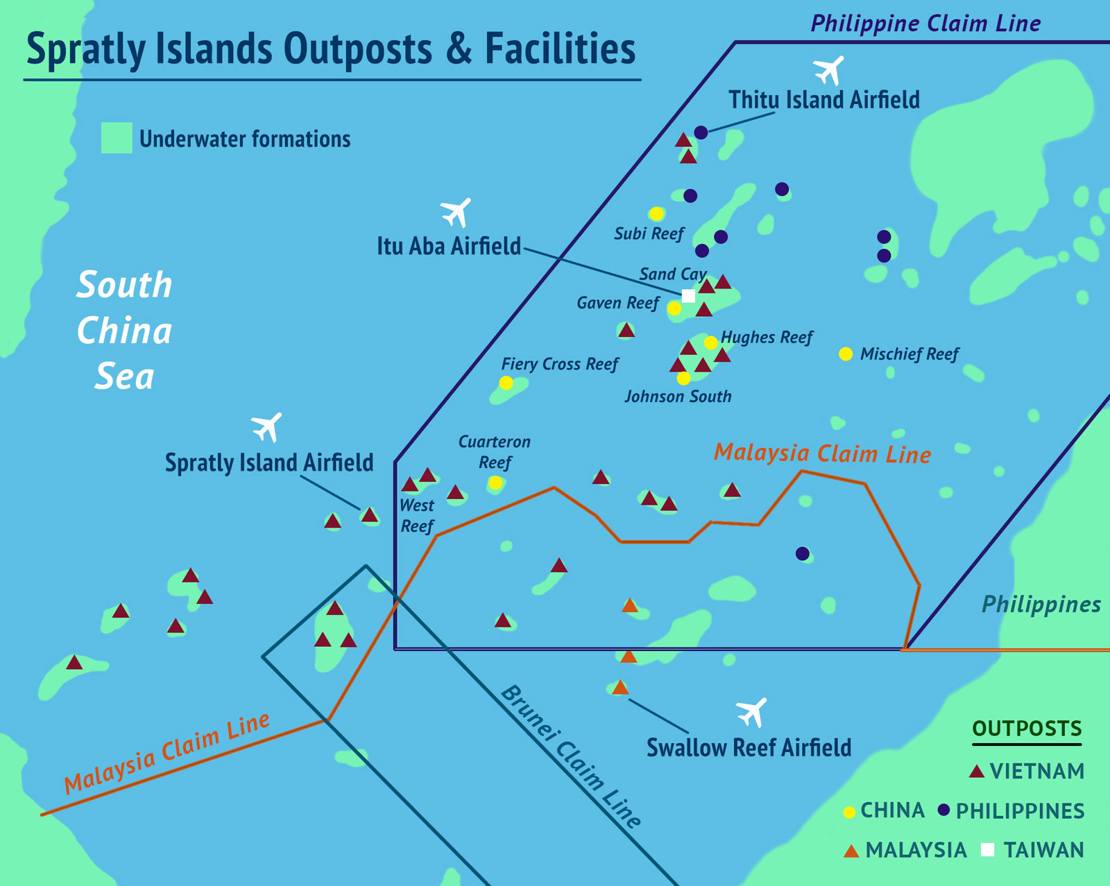Spratly Island Outposts