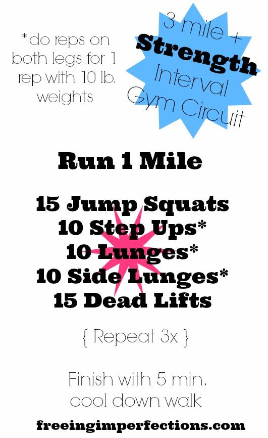 3 Mile + Strength Interval Gym Circuit