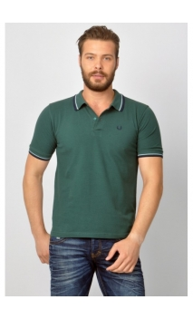 Polo regular fit Fred Perry Verde oliva
