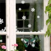 圣诞节幼儿园漂亮的雪花窗贴装饰