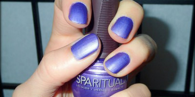 Get long lasting, chip free metallic purple nails with SpaRitual