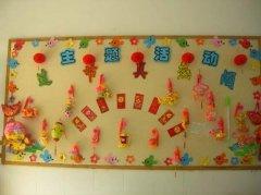 幼儿园过年主题墙饰设计:过节真热闹