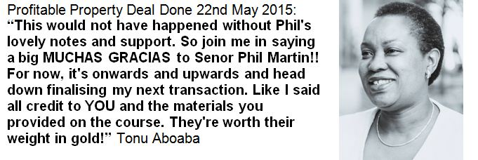 Tonu Aboaba Millionaires Together Property Investment Training and Support Programme Testimonial