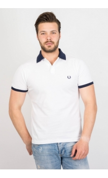 Polo Fred Perry blanco - blue collar