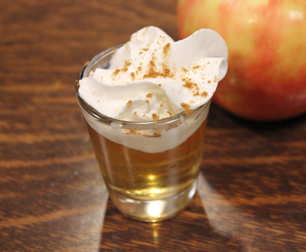 Manly Drinks Apple Pie Shot