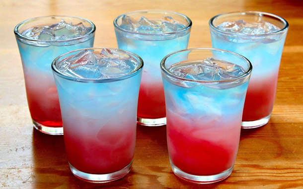 Manly Drinks Bomb Pop Shots