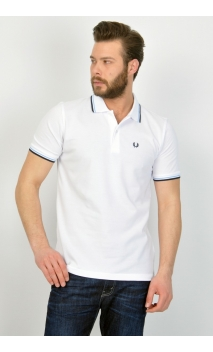 Polo-shirt Fred Perry blanco M1200