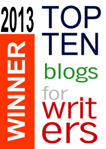 Top 10 Blogs for Writers badges for 2013