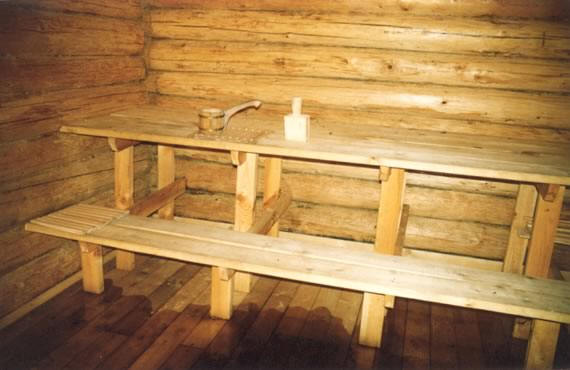 Russian banya, steam bath