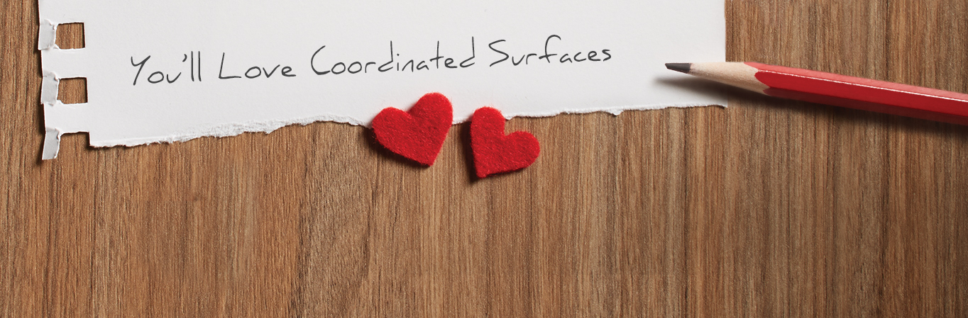 Coordinated Surfaces Love Notes
