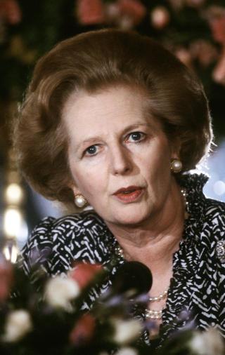 TINA: «There is no alternative», forkortet som TINA, var et av Margaret Thatchers viktigste slagord. Det betyr at på tross av kapitalismens problemer er det ikke noe alternativ til dagens økonomiske system. Foto: SCANPIX