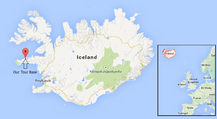 Iceland Whale Watching Tour Base Map
