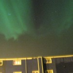 Aurora above the hotel