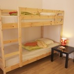 Self catering lodge family room bunk beds..