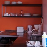 Self catering lodge kitchen..