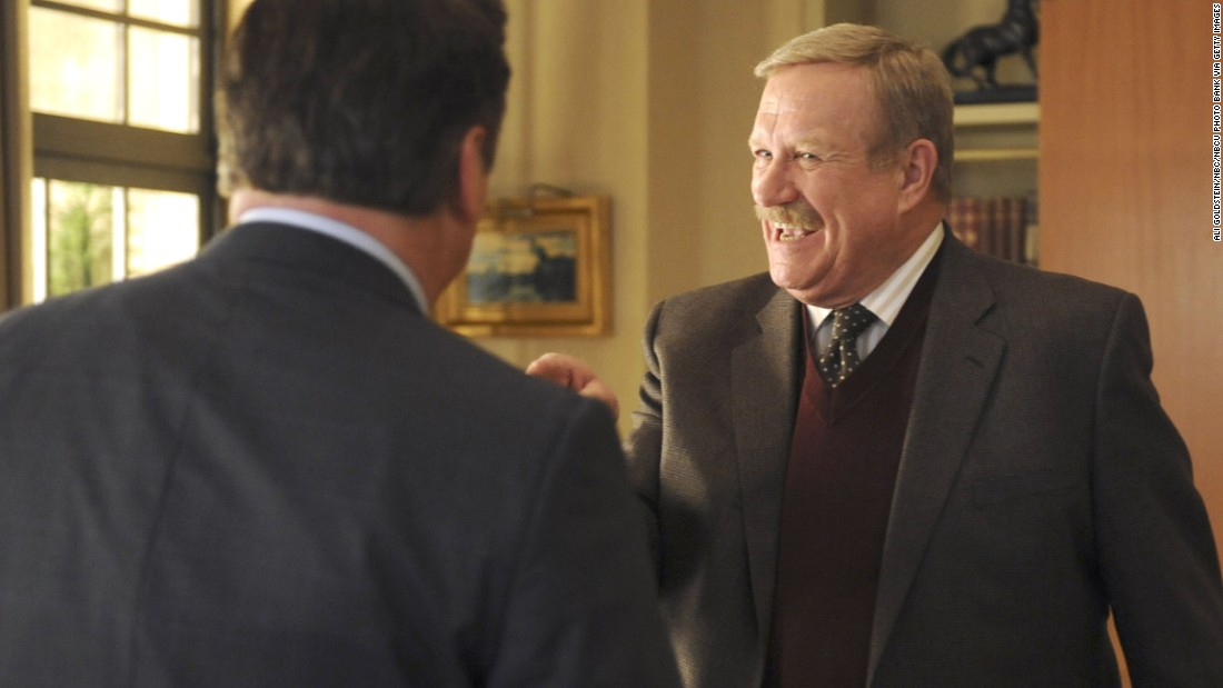 """<a href=""""http://www.cnn.com/2016/03/23/entertainment/ken-howard-dead-obit-feat/index.html"""" target=""""_blank"""">Ken Howard</a>, seen here as Hank Hooper on """"30 Rock,"""" died March 23. He was 71. Howard also starred in """"The White Shadow"""" and appeared on many other TV series."""