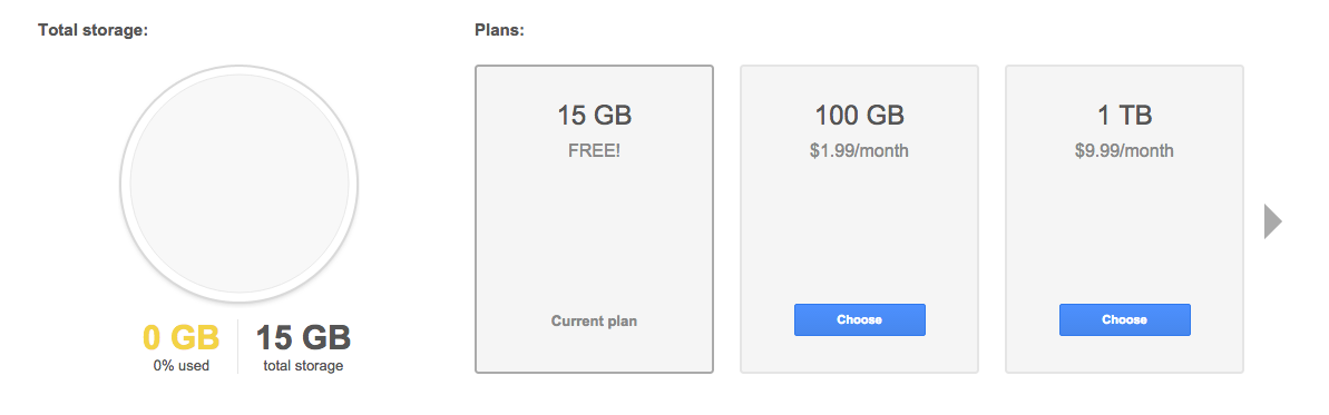 Paid Gmail plans