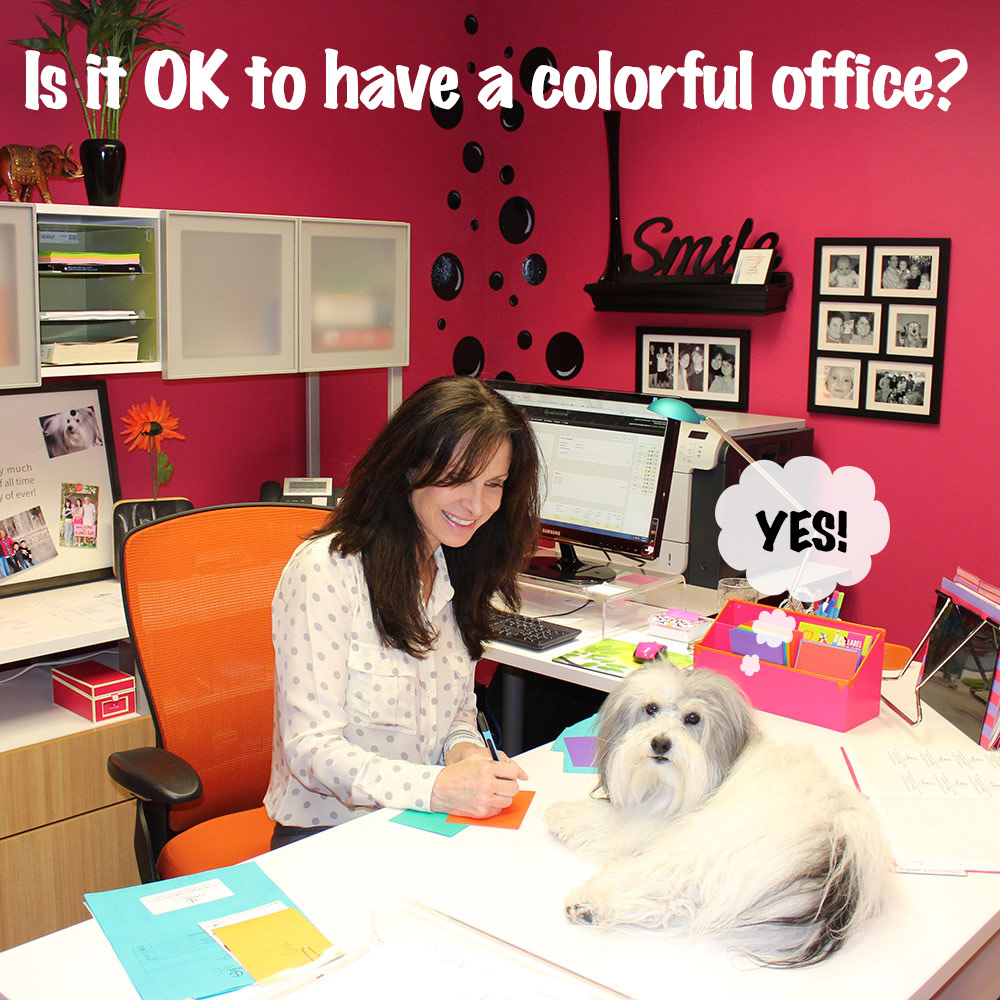 Is it OK to have a colorful office